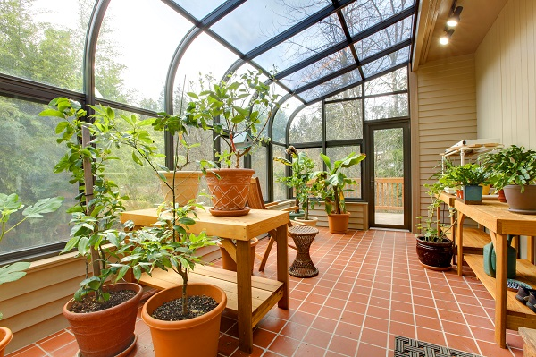 Private home green house, sun room