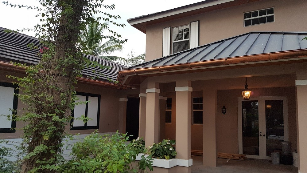 Copper Gutters Installation by Gutter Professionals, Inc.